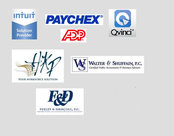 Logos of remote quality bookkeeping partnerships