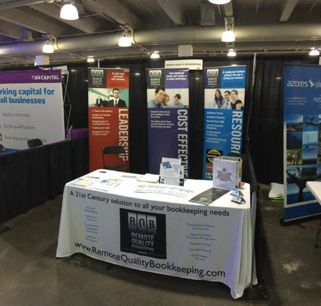 Remote Quality Bookkeeping booth at Small Business Expo