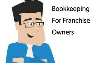 Bookkeeping for Franchise Owners (cartoon figure of Mark Kilduff owner of MyRQB)
