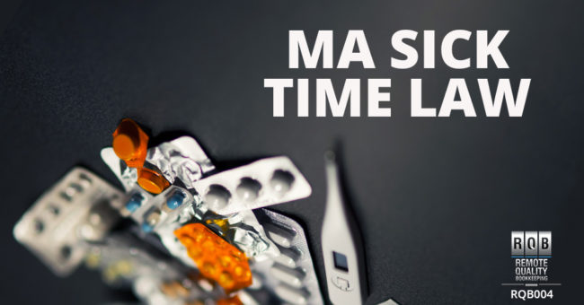 Massachusetts Sick Time Law Image with Prescription Pills and temperature probe in the distance
