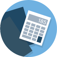illustration of a bookkeepers calculator
