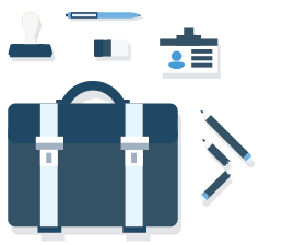 illustration of an expert bookkeepers tools for proper books and setting up payroll for a small business