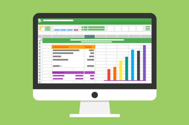Pictogram of an accountants computer screen
