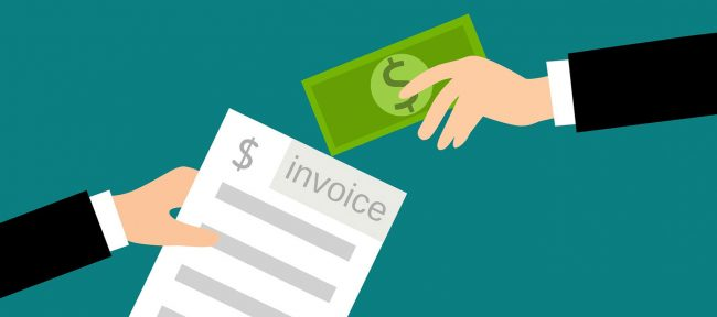 small business accounts payable - image of someone exchanging invoice for cash